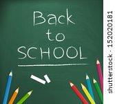 back to school  written with... | Shutterstock .eps vector #152020181