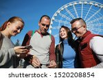group of people happiness...   Shutterstock . vector #1520208854