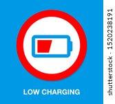 vector battery low charging  ... | Shutterstock .eps vector #1520238191