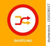 shuffling icon  change order ... | Shutterstock .eps vector #1520238317