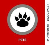 pets icon  vector paw print  ... | Shutterstock .eps vector #1520239184