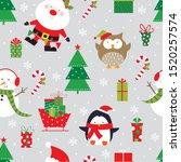 christmas celebration seamless... | Shutterstock .eps vector #1520257574