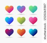 heart icon vector. perfect love ... | Shutterstock .eps vector #1520265587