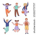 happy excited people are... | Shutterstock .eps vector #1520275757