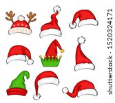 christmas holiday hat. funny... | Shutterstock .eps vector #1520324171