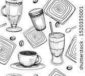 seamless pattern. graphic hand...   Shutterstock .eps vector #1520335001