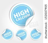 vector   high calcium stickers... | Shutterstock .eps vector #152037905
