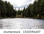 Stock photo beautiful panoramic view of big lake in the middle of the forest 1520396207