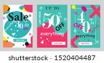 set discount banners promotion...   Shutterstock .eps vector #1520404487