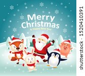 merry christmas   happy new... | Shutterstock .eps vector #1520410391