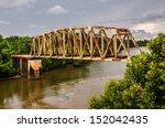 Rusty Old Railroad Bridge Span...