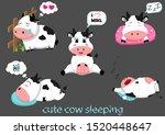 Cute Cow Cartoon Sleeping. Cute ...