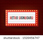 retro lightbox billboard... | Shutterstock .eps vector #1520456747