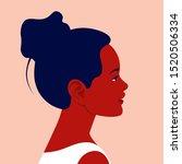 head of a little african girl... | Shutterstock .eps vector #1520506334