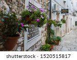 A Narrow Street In The Ancient...