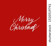 merry christmas. vector new... | Shutterstock .eps vector #1520519741