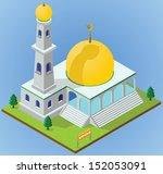 isometric mosque | Shutterstock .eps vector #152053091