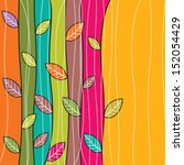 vector autumn leaves background | Shutterstock .eps vector #152054429