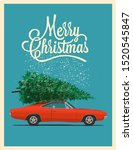 christmas card or poster design ... | Shutterstock .eps vector #1520545847