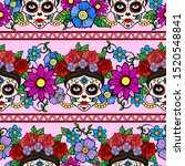 day of the dead  mexico pattern ... | Shutterstock .eps vector #1520548841