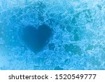Love Heart Ice Flowers Frosted...