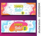 summer sale liquid banners... | Shutterstock .eps vector #1520550044