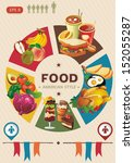 health food info graphic.... | Shutterstock .eps vector #152055287