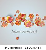 autumn seamless ornament with... | Shutterstock .eps vector #152056454