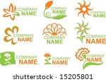 floral logos   Shutterstock .eps vector #15205801
