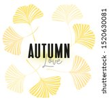 vector illustration ginkgo... | Shutterstock .eps vector #1520630081