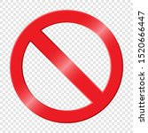 prohibiting sign. icon with red ... | Shutterstock .eps vector #1520666447