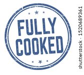 fully cooked sign or stamp on... | Shutterstock .eps vector #1520689361