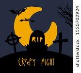 halloween night background...   Shutterstock .eps vector #1520702924