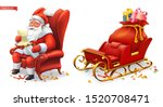 santa claus and sleigh with... | Shutterstock .eps vector #1520708471