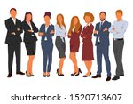 set of business people man and... | Shutterstock .eps vector #1520713607