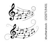 set of music notes  musical... | Shutterstock .eps vector #1520715431