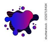 abstract fluid liquid... | Shutterstock .eps vector #1520715434