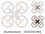 Mesh Quadcopter Model With...