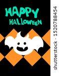 halloween flag cartonn design... | Shutterstock . vector #1520788454