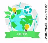 ecology infographic connection... | Shutterstock .eps vector #1520791154