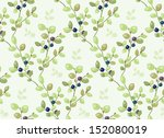Tiled Pattern With Blueberry...