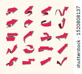 vintage colorful 3d vector...   Shutterstock .eps vector #1520808137