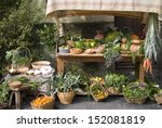 Fruit And Vegetable Stall At A...
