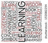 word cloud   learning | Shutterstock . vector #152082254