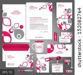 white corporate identity...   Shutterstock .eps vector #152082764