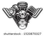 vector illustration of a hot... | Shutterstock .eps vector #1520870327