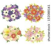 flower set | Shutterstock .eps vector #152088161