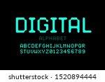 digital style font  alphabet... | Shutterstock .eps vector #1520894444