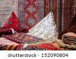 oriental carpets in the market. | Shutterstock . vector #152090804