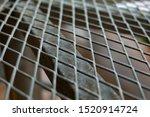 closeup  of  steel grating...   Shutterstock . vector #1520914724